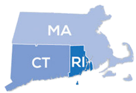 map of southern New England